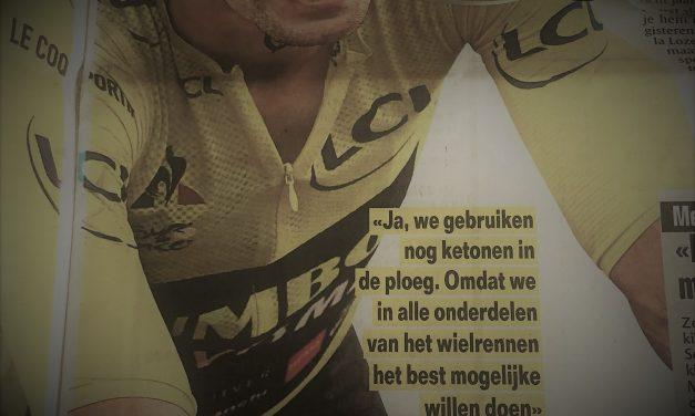 Wout van Aert gebruikt ketonen en dat is vandaag volstrekt normaal